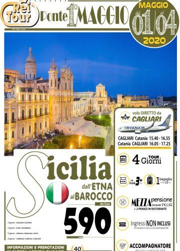 LOCANDINA - 2020 Ponte 1 Maggio - Sicilia dall Etna al Barocco